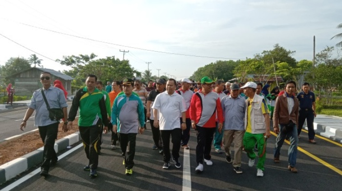 Peringatan HAB ke – 73 Meranti, Rombongan STAIN Bengkalis ikuti Gerak Jalan Kerukunan